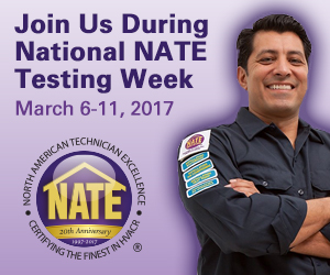 NATE Testing Week March 6-11, 2017